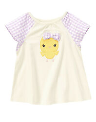 NWT Crazy 8 by Gymboree Flower Market Chick Gingham Tee 3T Toddler Girl $9.99