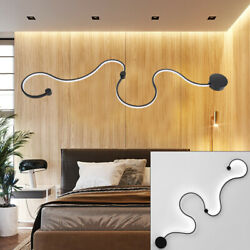 Modern LED Dining Room Light Acrylic S Shape Ceiling Lamp Bedroom Chandelier $94.10