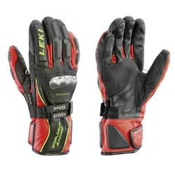 Leki World Cup Racing Ti S Speed Black Red Gloves $99.99