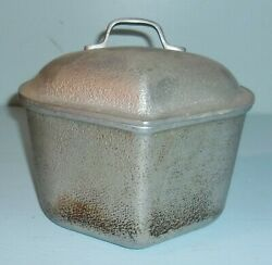 Vintage Century Metal Craft Silver Seal Aluminum Triangle Pan w Lid Cookware $10.00