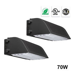 7200LM Waterproof LED Wall Pack Light Outdoor Building Mounted Lighting 70W 2pc