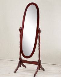 Antique Floor Mirror Wood Bedroom Full Length Cheval Free Standing Dressing Tilt $57.01