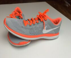Womens Nike Orange Grey Running Shoes Size 8 Great Condition