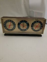 Vintage Springfield Instrument Desk Thermometer Barometer Humidity USA  $17.00