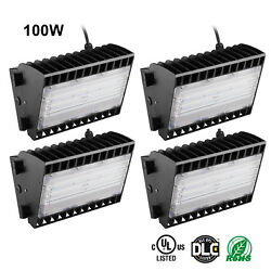 11000LM Commercial LED Wall Pack Light Waterproof Outdoor Building Mounted 4pcs