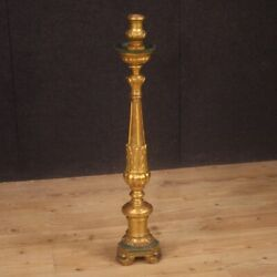 Torch holder Italian antique furniture candelabra in lacquered gold wood 800 $1715.00
