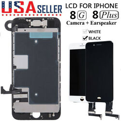 For i Phone 8 8 Plus LCD Digitizer 3D Touch Screen Full Replacement Assembly Set $20.33