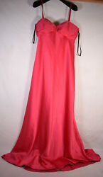 Calvin Klein Womens Dress Cocktail Red Long Solid 8 $96.00