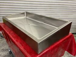 48quot; Counter top Slanted Ice Display Riser Stainless Bin amp; Drain Hubert #4036 $210.00