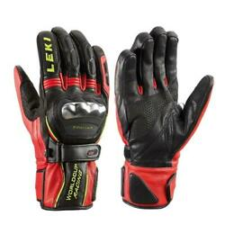 Leki World Cup Racing Titanium S Gloves Black Red Yellow $99.99