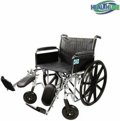 Wheelchair Folding Transport ChairHeavy Duty Bariatric Wheelchair 24 Inch Seat $325.65