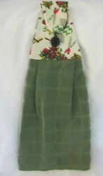 Hanging Kitchen Towel Kitchen Theme Kitchen Decor Cranberry Creams and Green $7.00