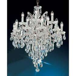 Classic Lighting Maria Theresa Crystal Traditional Chandelier Chrome - 8126CHS