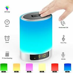 Night Lights Bluetooth Speaker Hetyre Touch Sensor LED Table Lamp Dimmable RGB $38.99