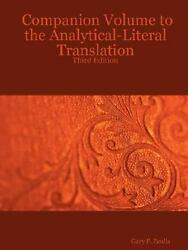 Companion Volume to the Analytical Literal Translation: Third Edition Zeolla G $15.43