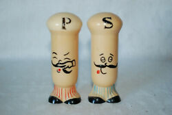 Vintage plastic Italian chefs salt amp; pepper set made in Hong Kong. $6.00