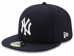 New Era 59Fifty New York NY Yankees Game Fitted Hat Dark Navy MLB Cap $31.99