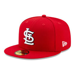 New Era 59Fifty St. Louis Cardinals GAME Fitted Hat Red Men#x27;s MLB Cap $31.99