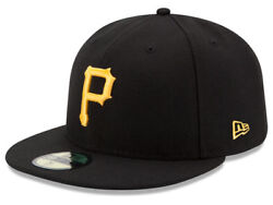 New Era Pittsburgh Pirates GAME 59Fifty Fitted Hat Black MLB Cap $32.99