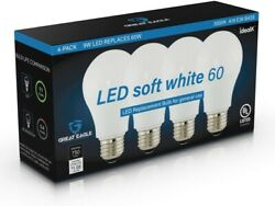 Great Eagle 60W Replacement A19 LED bulb: 2700K3000K4000K5000K (4- or 8-Pack) $7.75