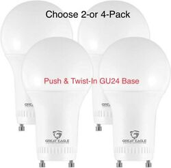Great Eagle A19 GU24 LED Bulb Dimmable 60W Replacement 2700K3000K4000K $9.95