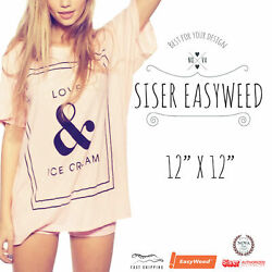 Siser EasyWeed® HTV Heat Transfer Vinyl for T Shirts 12quot; by 12quot; Sheet s $3.79