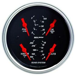 AutoMeter 1412 Designer Black Air Core Quad Gauge 3 3 8 Inch