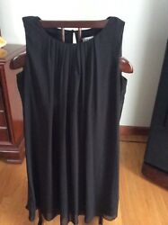 JBS Black Cocktail Chiffon Sheath Sleeveless Dress Sz.8 $8.00