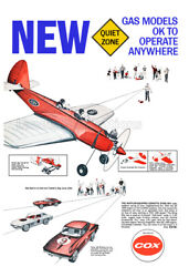 Cox Model Airplane Vintage 1966 Advertising Poster $19.95