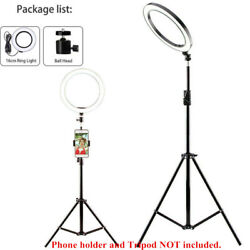 LED Ring Light Studio Photo Video Dimmable Lamp Tripod Stand Camera Selfie Phone $13.99
