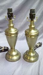PAIR OF BRASS TABLE LAMPS $25.99