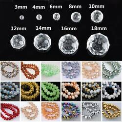 3mm 4mm 6mm 8mm 10mm 12mm Rondelle Faceted Crystal Glass Loose Spacer Beads lot $1.99