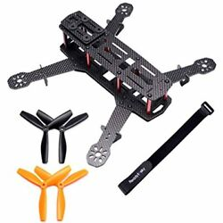 250mm FPV Racing Drone Frame Carbon Fiber Quadcopter Kit With 4mm Arms And Lipo $31.91