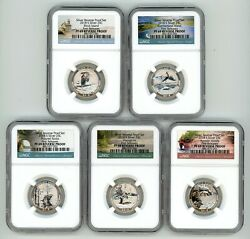 2018 S SILVER QUARTERS SET 25C REVERSE PROOF NGC PF69 FIRST RELEASES 456 $59.95