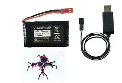 Battery amp; Charger Set for Sky Viper Spider Drone 750mAh High Discharge Capacity $15.75