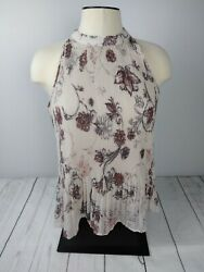 Maurices Women's Brown Floral Top Size Small $4.98
