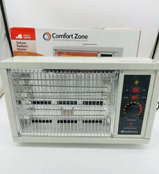 Comfort Zone CZ550 5120 BTU Radiant Electric Wite Element Box Heater $21.00