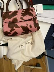 By Far Mini Pink Cow print Pony Hair Leather Bag $250.00
