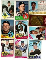Autographed Pirates Topps 1963 1964 1965 1966 1967 AVG EX or better 47 cards $5.89