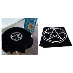 1pc Velvet Tarot Cloth for Tarot Cards Playing Cards Parts Black 80x80 $16.72