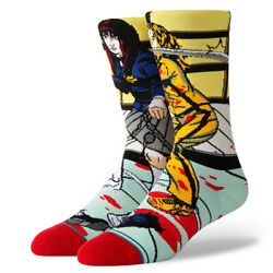 Stance quot;The Bride and Gogoquot; Classic Crew Socks Purple Men#x27;s Graphic Print Sock $18.00