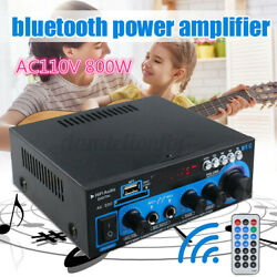 MECO 800 Watts bluetooth Home 2-Channel Stereo Power Amplifier Audio USB AMP  V $28.99