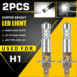 Xenon H1 LED Halogen Headlight Bulbs 6000K High Low Beam Light 100W Ultra White $8.97