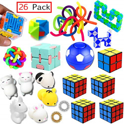 Sensory Toys Set 26 Pack Stress Relief Fidget Hand Toys for Adults and Kids $13.54
