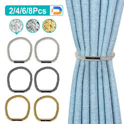 24pcs Curtain Tie Backs Magnetic Ball Buckle Holder Tieback Clips Home Window $10.87