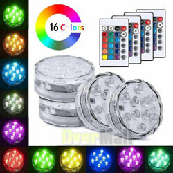 4 Piece Waterproof Underwater Led Lights with remote for Swimming Pool Hot tube $22.95