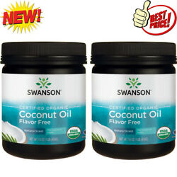 Organic Coconut Oil 16 oz Solid Oil 2 Packs Flavor Free Natural Scent $29.95