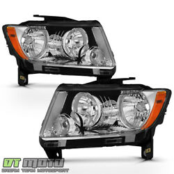 2011-2013 Jeep Grand Cherokee 11-17 Compass Halogen Headlights Headlamps Pair $132.99
