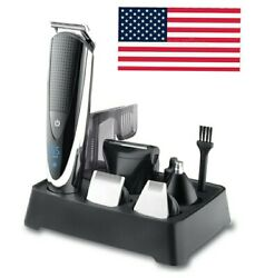 HATTEKER Professional Hair Clipper for Men Rechargeable electric razor 5 in 1  $49.99