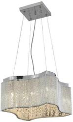 INFLUX PENDANT CONTEMPORARY 8 LIGHT ADJUSTABLE HANGING HEIGHT CHROME IRON $799.00